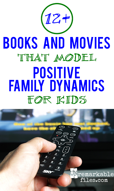 Part of raising kids who get along is showing them happy families in the media - these suggestions can help.  {posted @ Unremarkable Files}