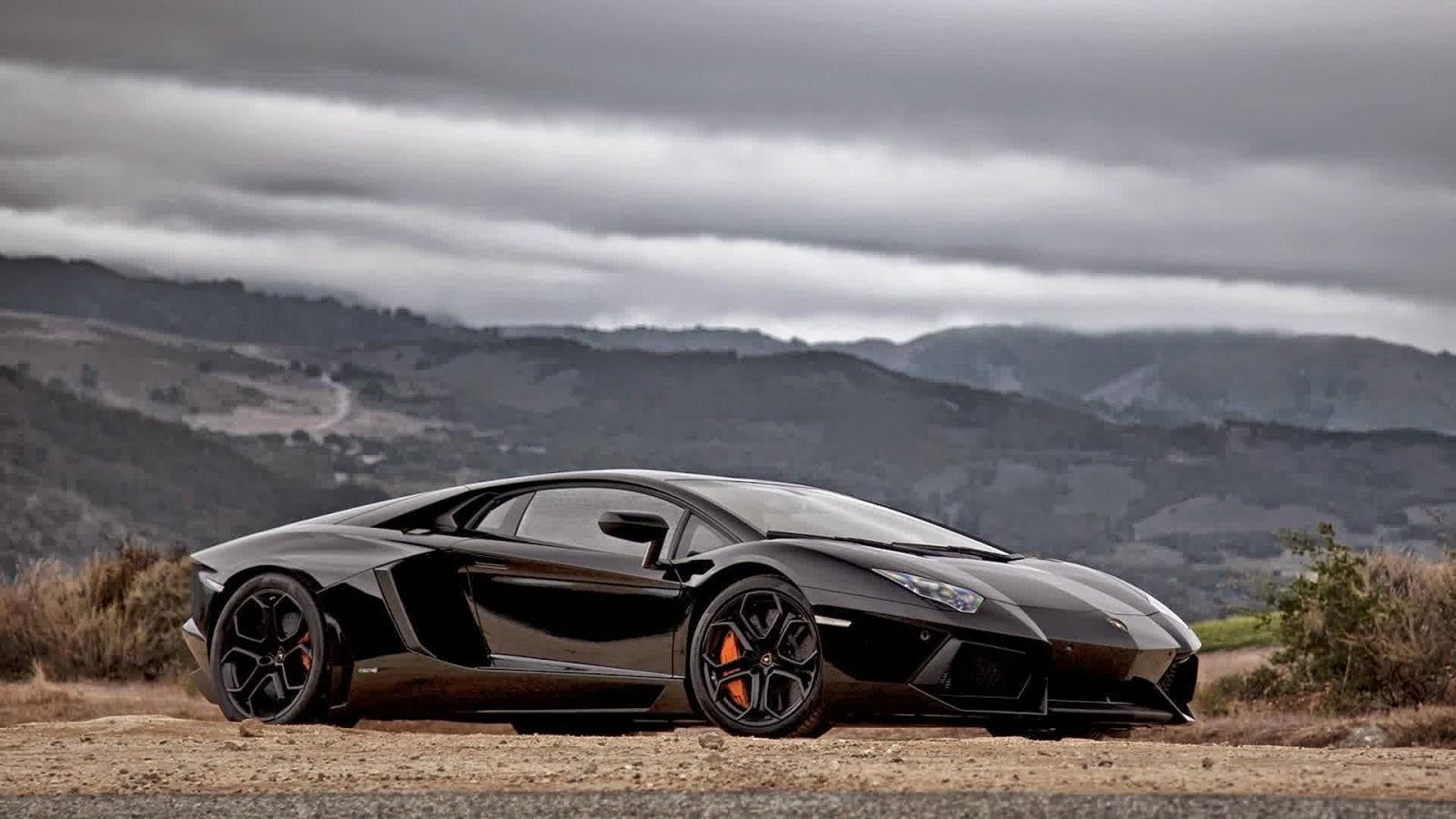 Get 3 Black Lamborghini Aventador Wallpapers On the Mountain
