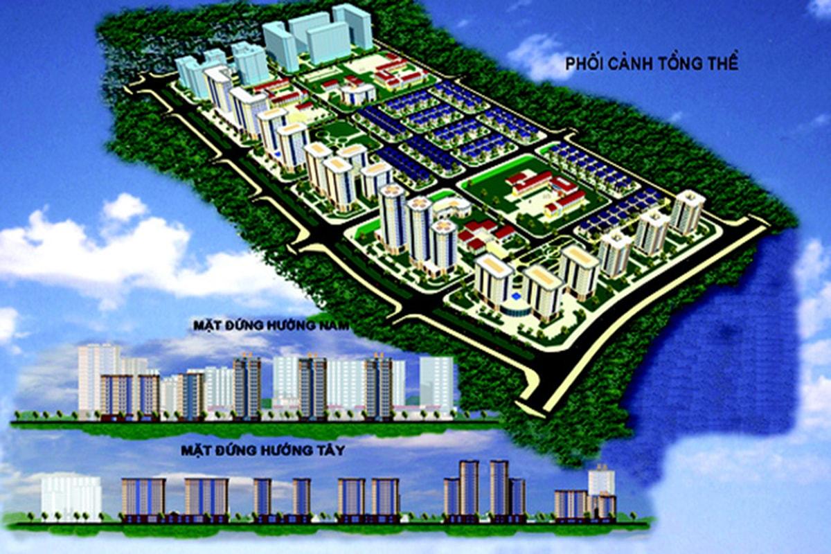 Tổng thể dự án Louis City Hoàng Mai