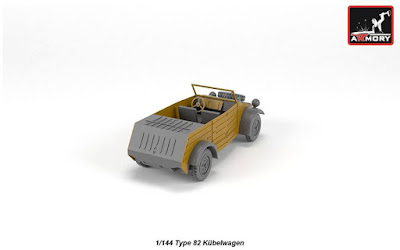 AR M14201 - 1/144 VW Type 82 Kubelwagen, resin kit w/ PE parts picture 5