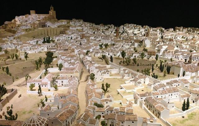 maqueta de la ciudad de Antequera