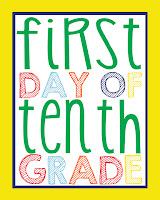 Tenth Grade Printable
