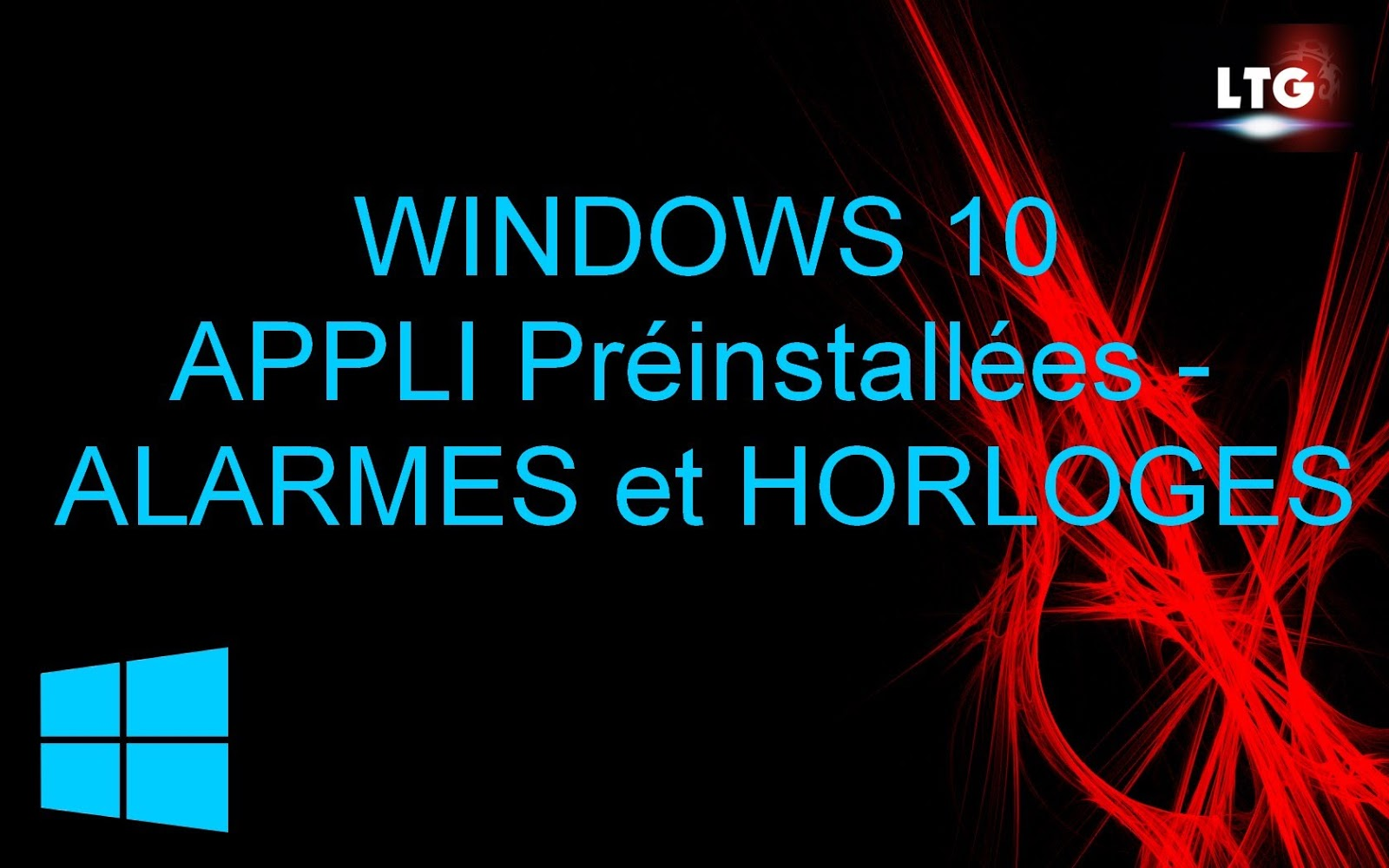 Alarme sonore windows 10