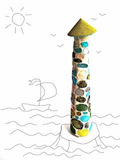 маяк хэнд мэйд, маяк из ткани, необычный подарок