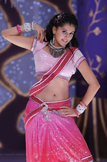 Taapsee Pannu now has Fat Stomach Sexy Navel Doing Bhangra in Pink Choli WOW Naughty Booby Taapsee Pannu