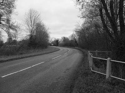 black-and-white-empty-uk-road