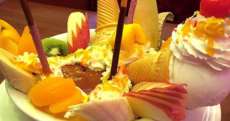 新宿の純喫茶『珈琲西武』のデカ盛りプリンアラモード