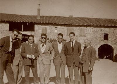 Visita a Beaujolais durante el II Campeonato Mundial Universitario de Ajedrez Lyon 1955