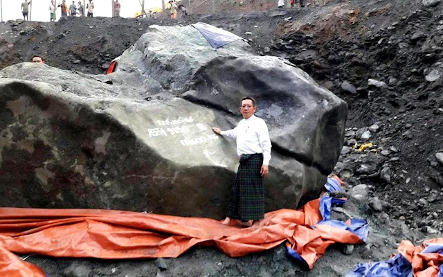 Jade Stone Worth $170 Million Unearthed in Burma