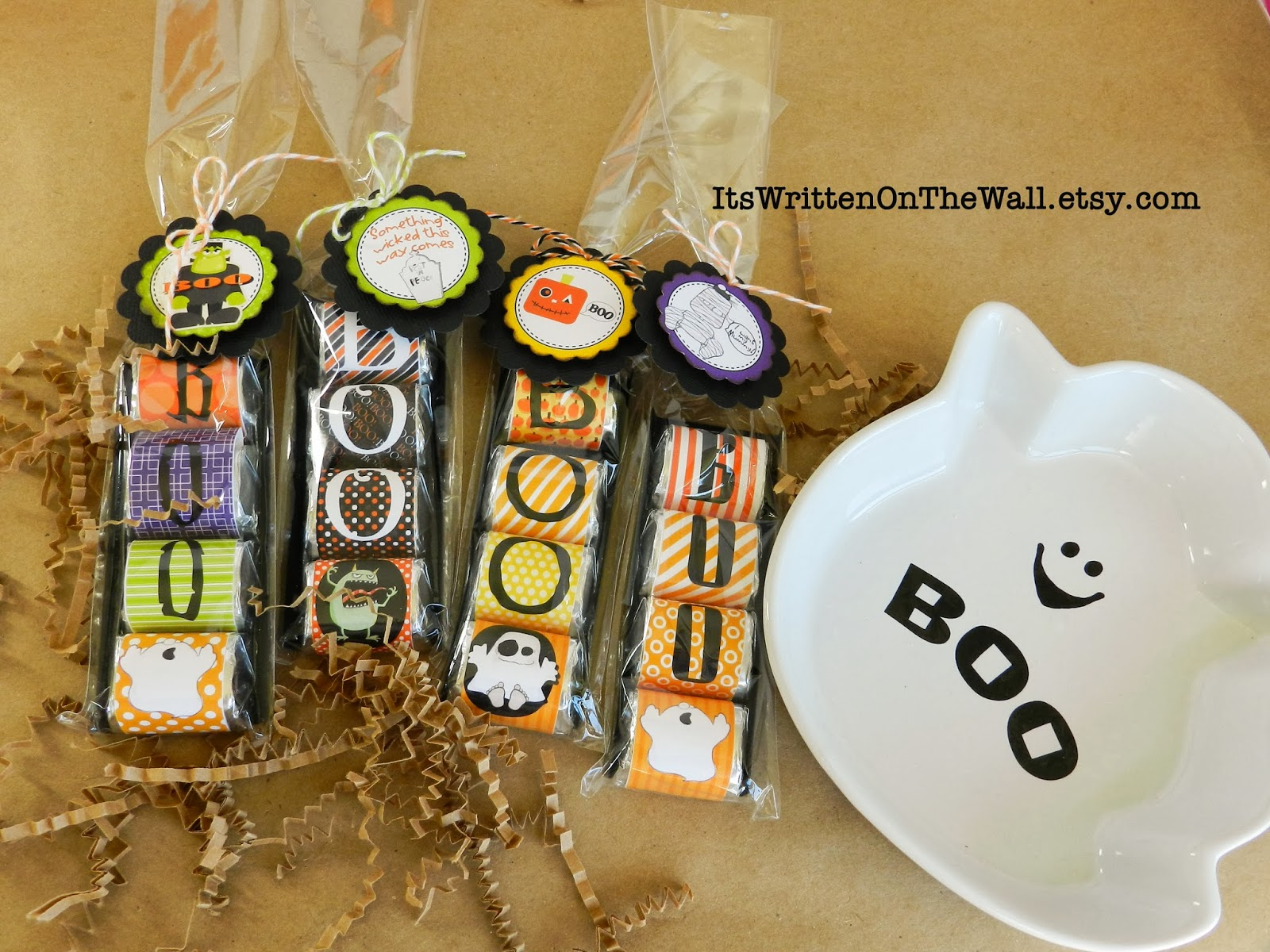 halloween eek and boo hershey nugget wraps and tags for a sweet halloween treat