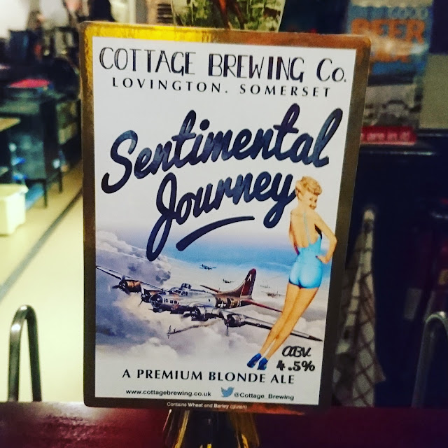 Sentimental Journey from Cottage Brewing craft beer pumpclip