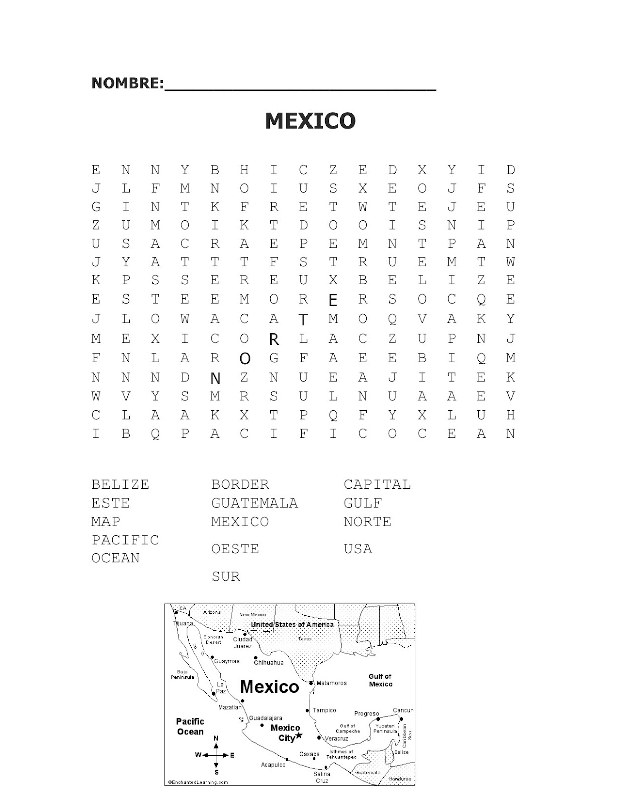 Spanish Simply Mexican Cultural Unit Geography