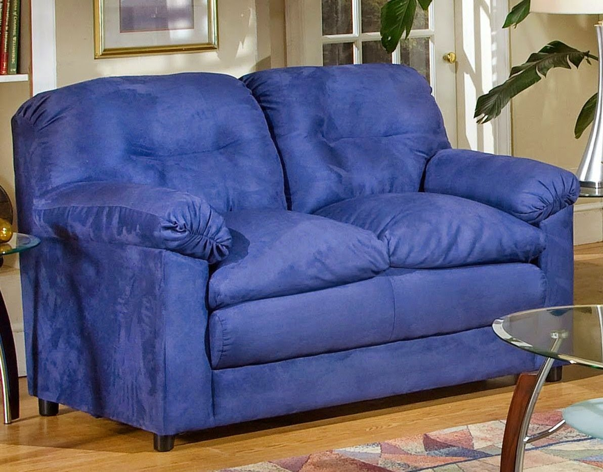 Cheap Recliner Sofas For Sale: Blue Reclining Loveseat ...