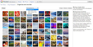 Sorting and smaller thumbnails would be great to have in Google Photos like in Picasa web album