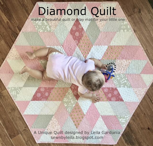 hexagonal, easy, fast, unique, cute, and sophisticated - this baby quilt is all the things!