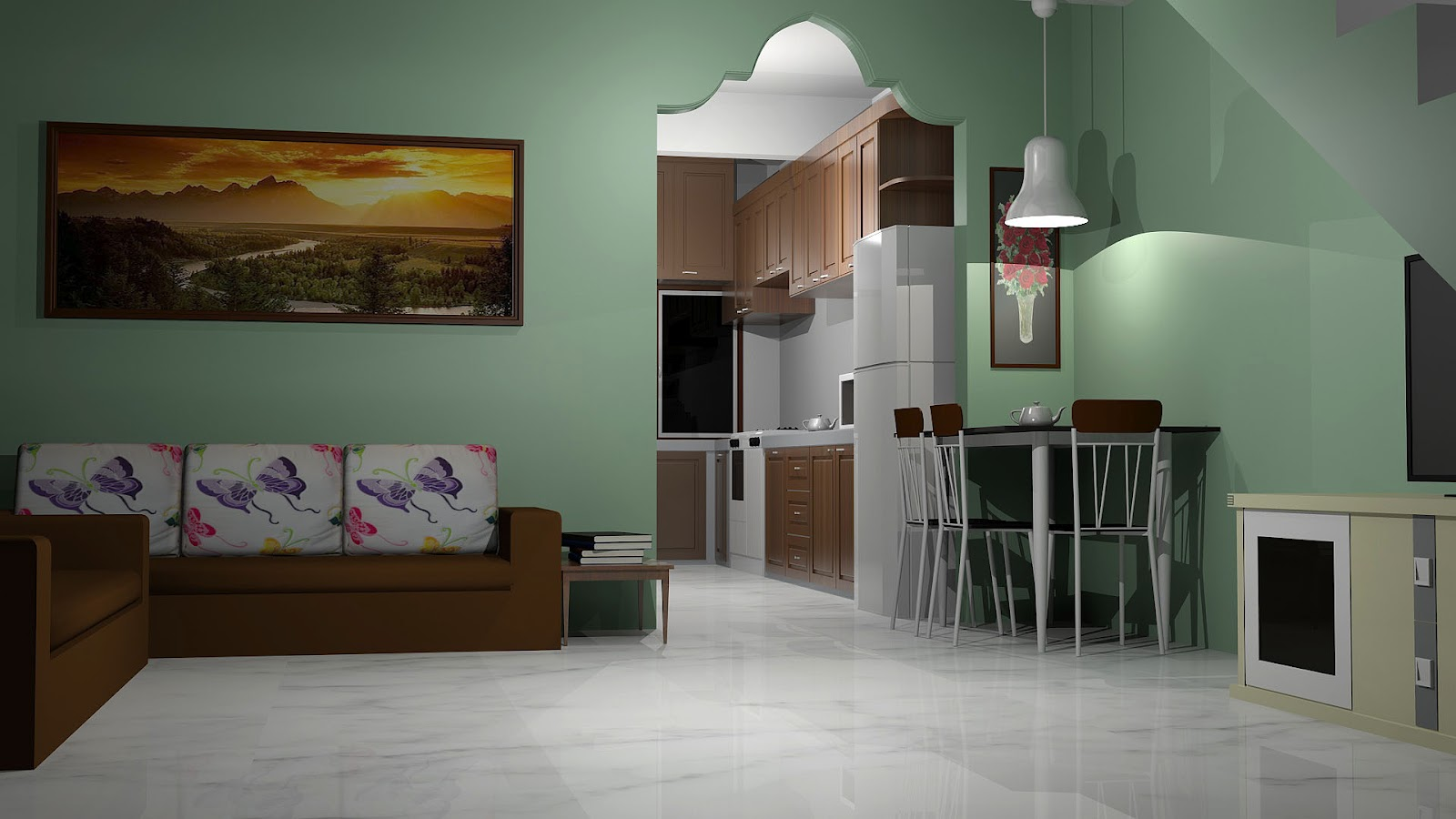 Ini Adalah Rupa Rumah Asal Ada Satu Bilik Dibahagian Dapur Bukaannya A 14 Kaki Ruang Tamunya Bersambung Dengan Makan Dan Di