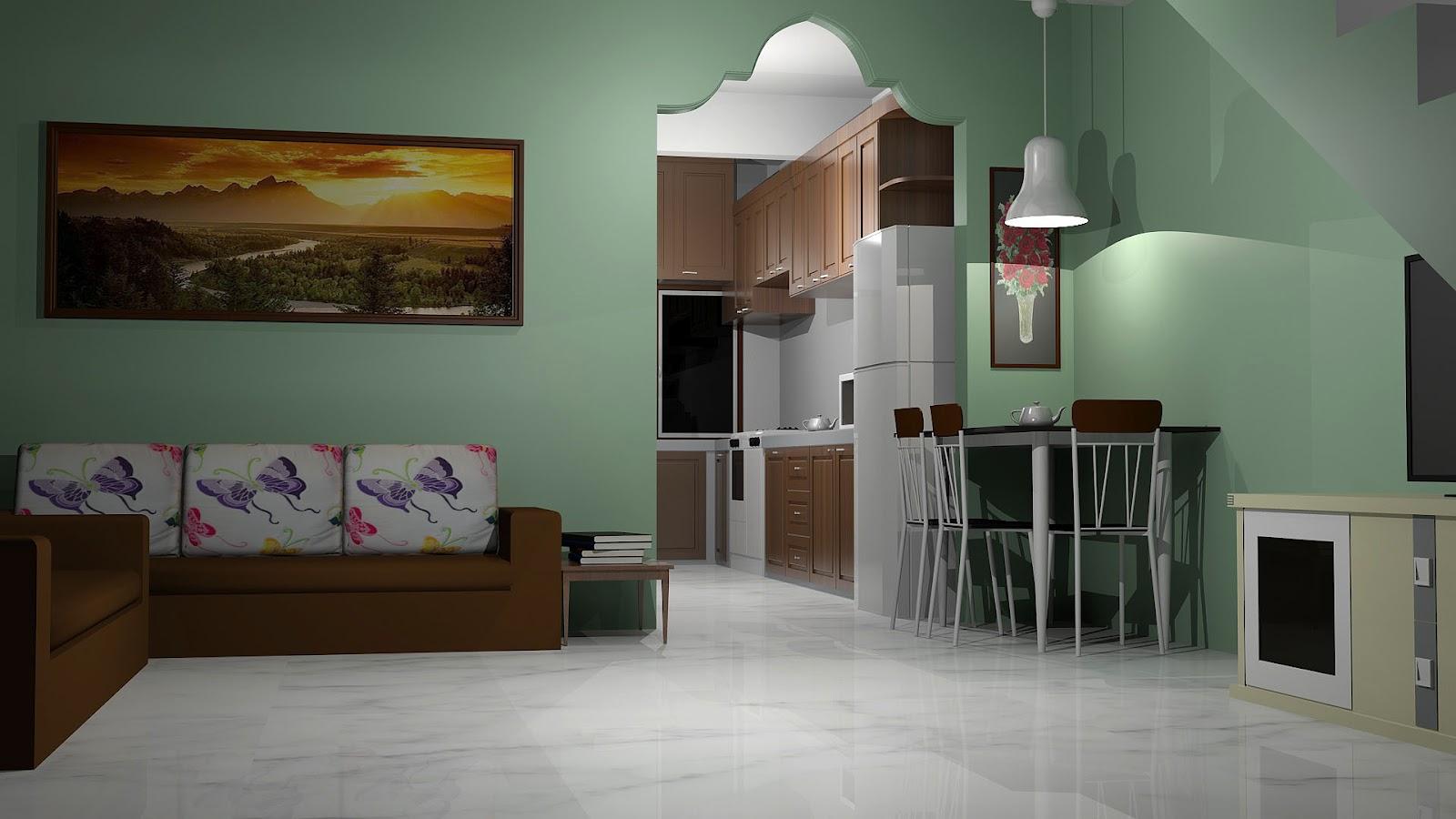 Islamic Interior  Exterior Design Ubahsuai ruang tamu dan dapur  Design rumah saiz 14 x 60