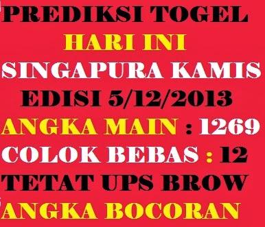 Prediksi Angka Main Prediksi Angka Jitu Singapura Kamis Desember