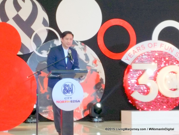 Mr. Steven Tan, SM Supermalls Senior Vice President