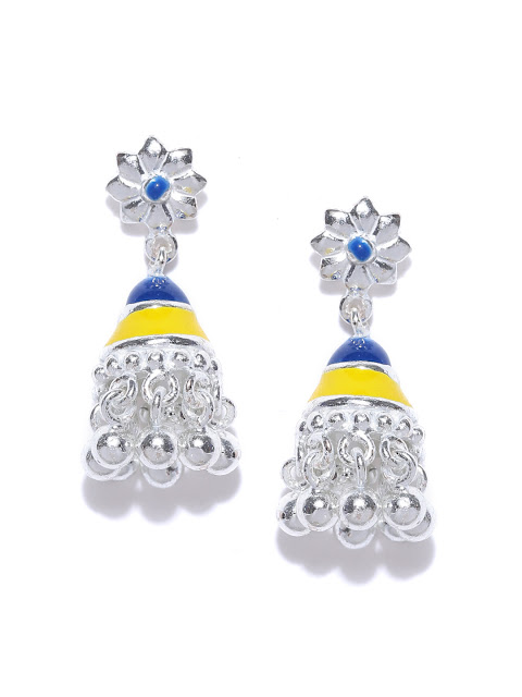 AhilyaJewels.com - BLUE YELLOW TINY JHUMKI