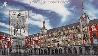 50 ANIVERSARIO FERIA NACIONAL DEL SELLO. IV CENTENARIO DE LA PLAZA MAYOR DE MADRID