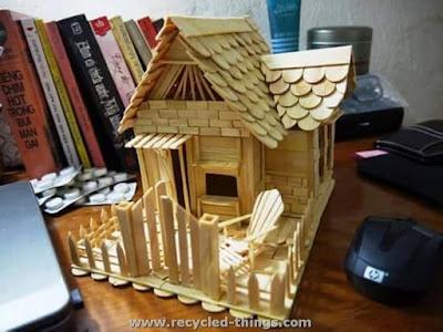 บ้านไม้ไอติมมุงหลังคาสวยๆ