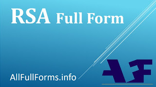 RSA Token Full Form | RSA Algorithm Full Form