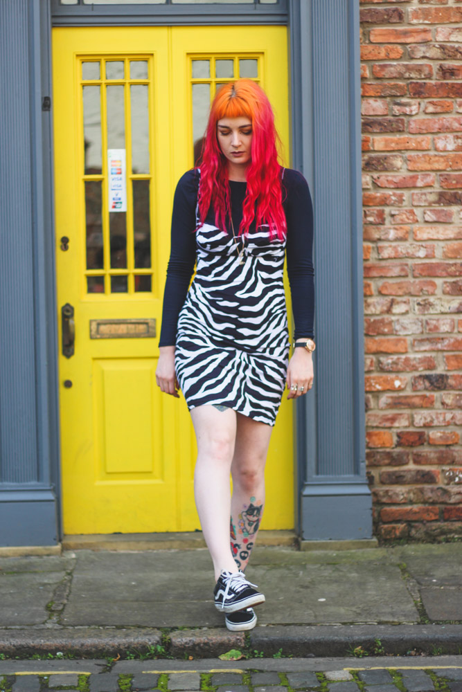 Alternative Style Blogger Foxxtailz in Motel