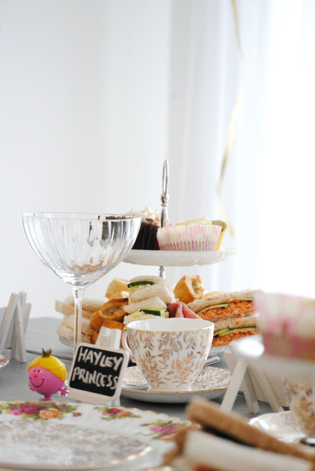 afternoon tea at home family day summer ideas moet champange chocolate strawberries vintage cake homemade sandwich gold perfect diy