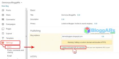 Menyiapkan subdomain untuk blogger