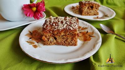 Ciasto jabłkowo-orzechowe