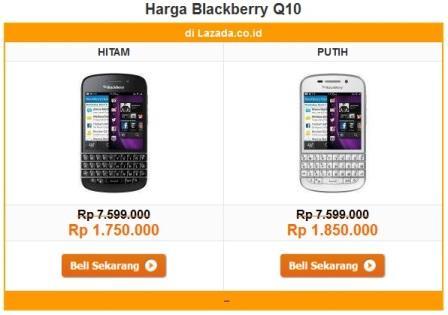 harga terbaru blackberry Q10
