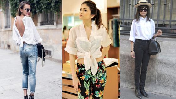 camisa branca estilosa