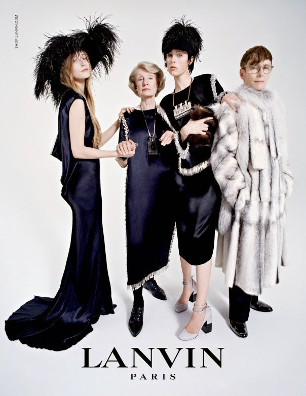 Lanvin's Fall/Winter 2014 Ad Campaign Starring Edie Campbell's Family