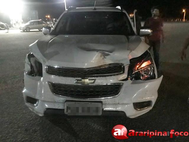 Prefeito e vice de Araripina se envolvem em acidente após veículo bater em jumento em rodovia