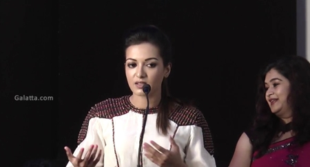 Catherine Tresa Speech@Kalakalappu 2 Press Meet | Jiiva, Jai, Shiva, Catherine Tresa, Nikki Galrani