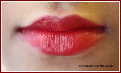 Colorbar Matte Touch Lipstick, Sweetheart 023M || Review, Swatches & LOTD on the blog Natural Beauty And Makeup