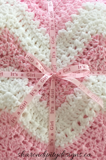 crochet blanket, newborn, infant, baby, chevron