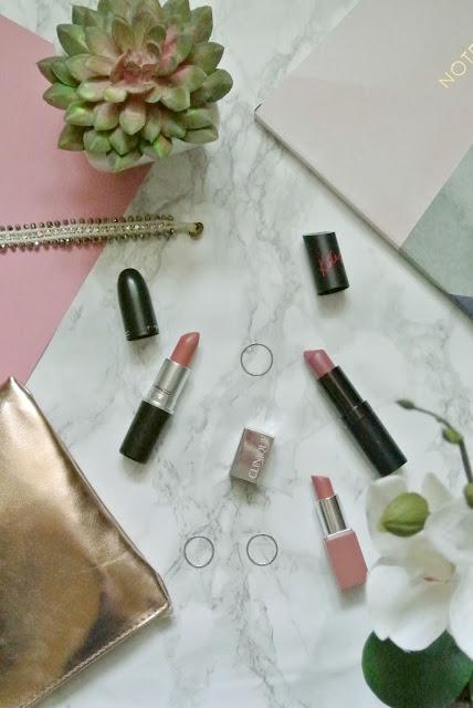 Most Worn Lipsticks Clinique Nude Pop Lip Pop Rimmel Kate Moss Lasting Finish Mac Velvet Teddy Blogger Favourite Nude Pink