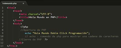 Hola Mundo en PHP