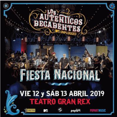 """Los Auténticos Decadentes anuncian la llegada de su """"Fiesta Nacional"""" a la Ciudad de Buenos Aires."""
