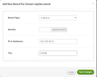 cara setting domain blogspot