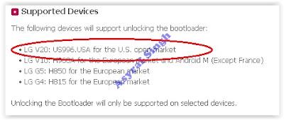 unlock bootloadr LG V20