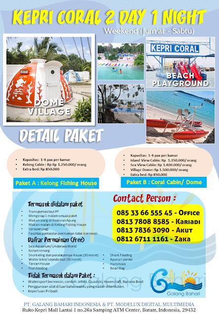 085-33-66-555-45 Kepri Coral ONE DAY TRIP Paket Menginap Batam Wisata Promotion Modelux Digital Galang Bahari
