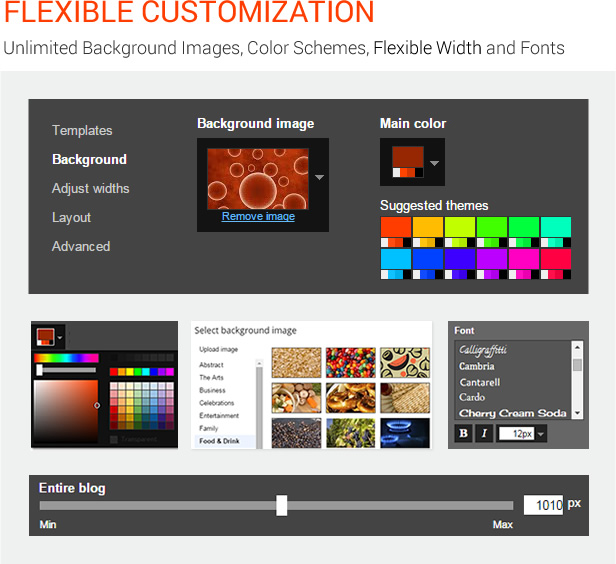 Flexible Customization - MagOne - Magazine Blogger Template
