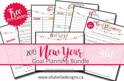 How to Plan Your Goals and Live Your Best Life - Goal Planning and How to Make Your Goals Succeed - Includes 7 Free Printables by Ellabella Designs
