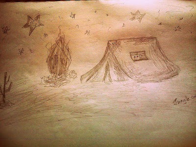 Jungle camp sketch