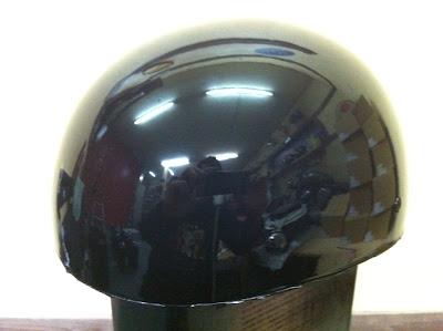 2068876015 - カスタムペイント工程  バッドボーンヘルメット シルバーリーフ スピニング