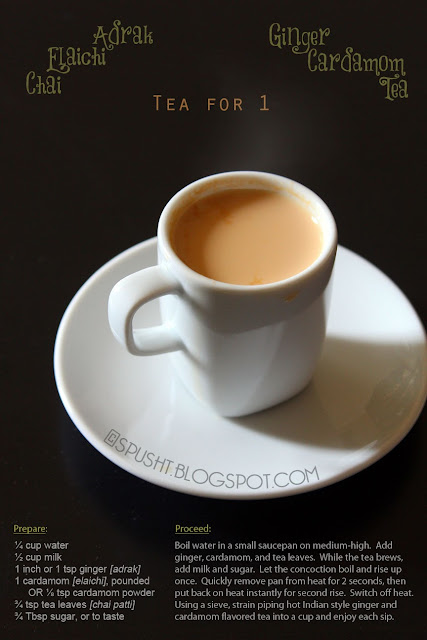 recipe for Indian Tea good for one person