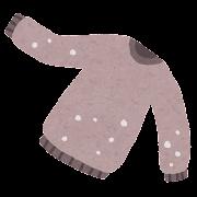 毛玉のついたセーターのイラスト